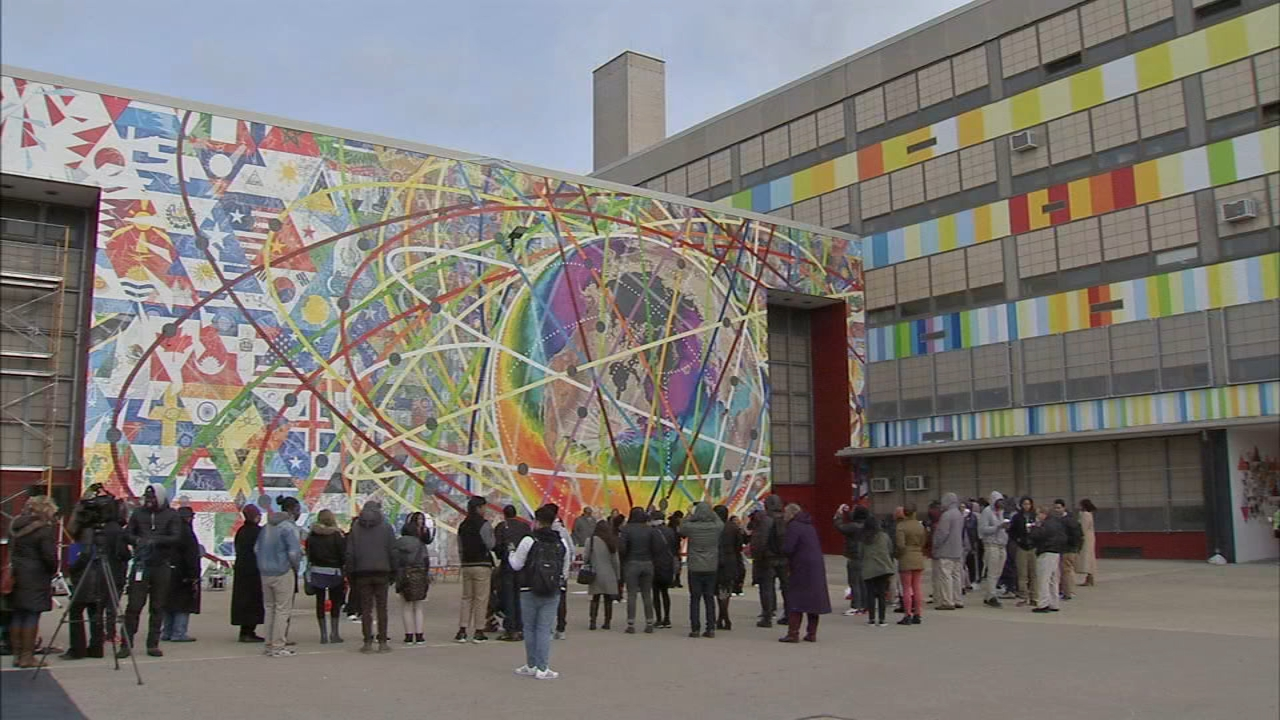 For the last year students worked with math and science teachers as well as a local mural artist to create a design as reported during Action News at 4 on November 28, 2018.