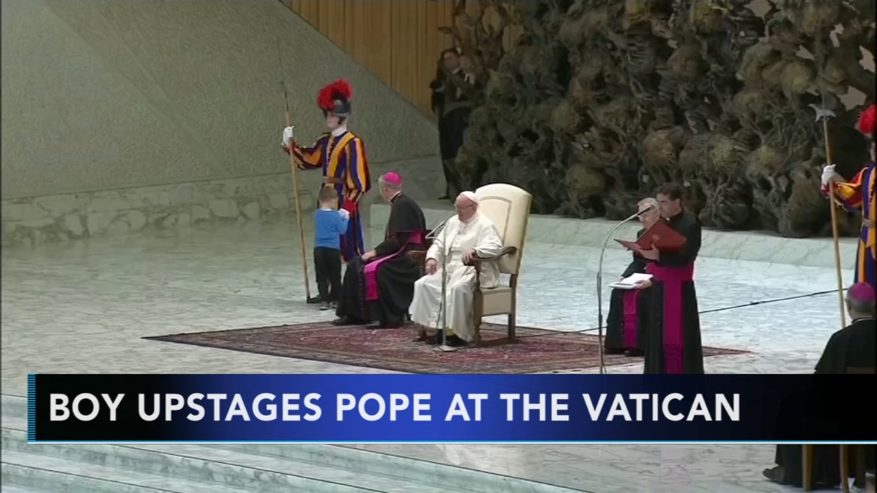 Boy upstages pope at the Vatican. Tamala Edwards reports during Action News Mornings on November 29, 2018.