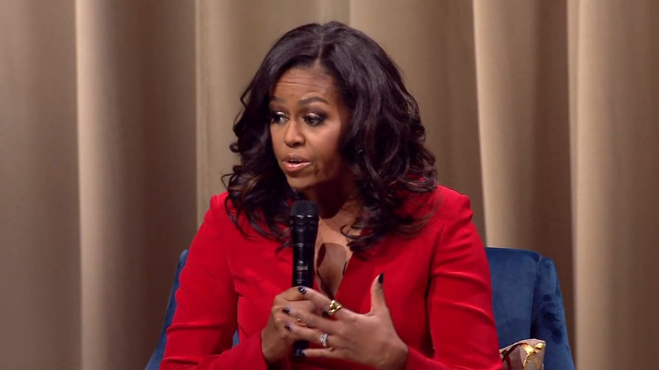 Twelve local high school girls had their own private roundtable session at the African American Museum with former First Lady Michelle Obama as reported during Action News at 11 on