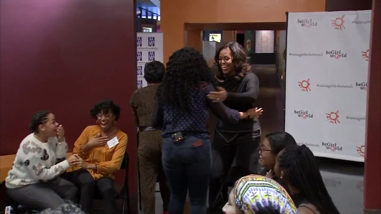 Michelle Obama surprises group of high school girls: Vernon Odom reports on Action News at 6 p.m., November 29, 2018