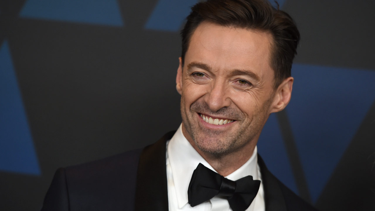 Hugh Jackman arrives at the Governors Awards on Sunday, Nov. 18, 2018, at the Dolby Theatre in Los Angeles.