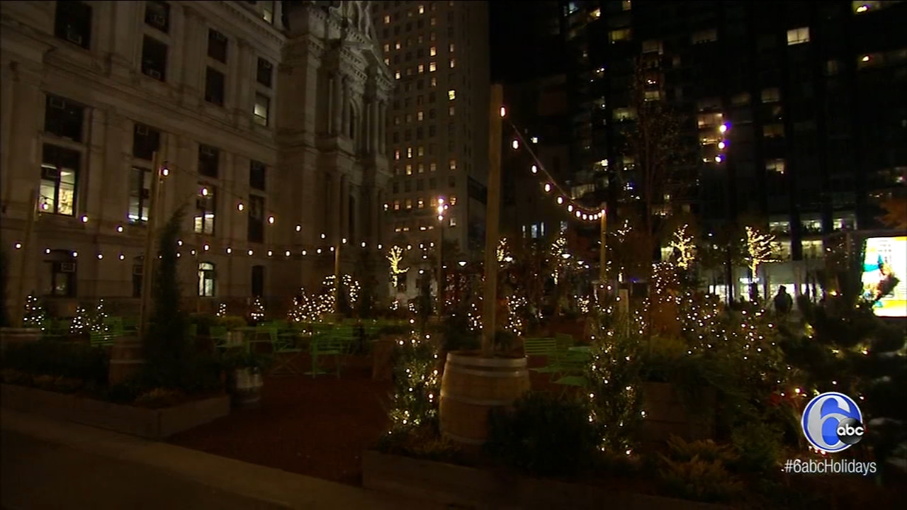 It looks great during the day and might be even better at night. The Wintergarden is a site to see this holiday.