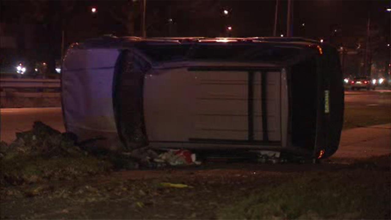 Driver flips vehicle in NE Philadelphia crash