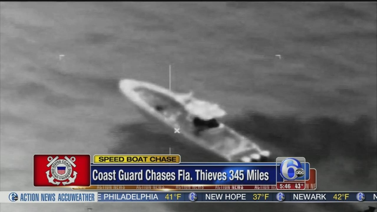 VIDEO: 3 detained after leading authorities on 300-mile sea chase