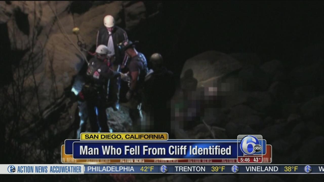 VIDEO: Man who fell from cliff identified