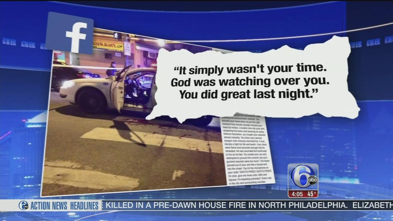 VIDEO: Follow officer writes moving tribute to injured cop