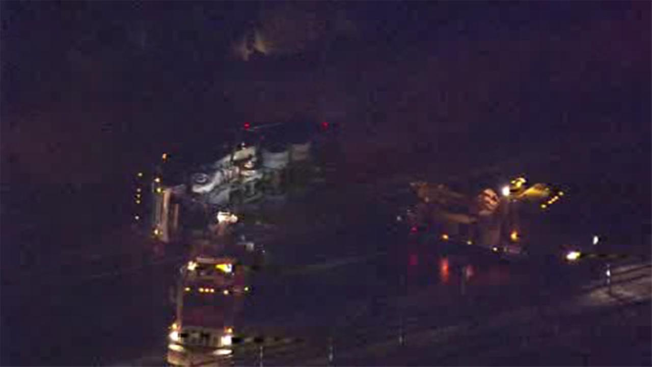 Trash truck crash closes a portion of Rt. 202 in Bucks Co.