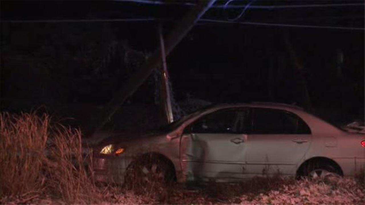 A man is hospitalized after an accident police said icy roads are to blame in the citys Torresdale section.