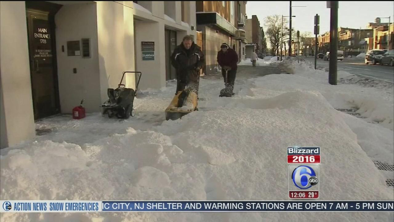 VIDEO: Cleaning up after historic blizzard