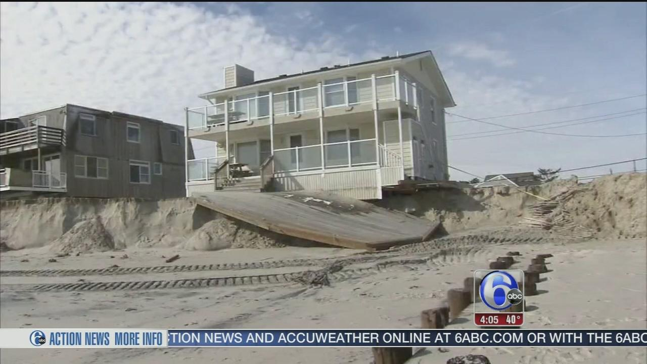 VIDEO: Storm brings serious beach erosion to Jersey Shore