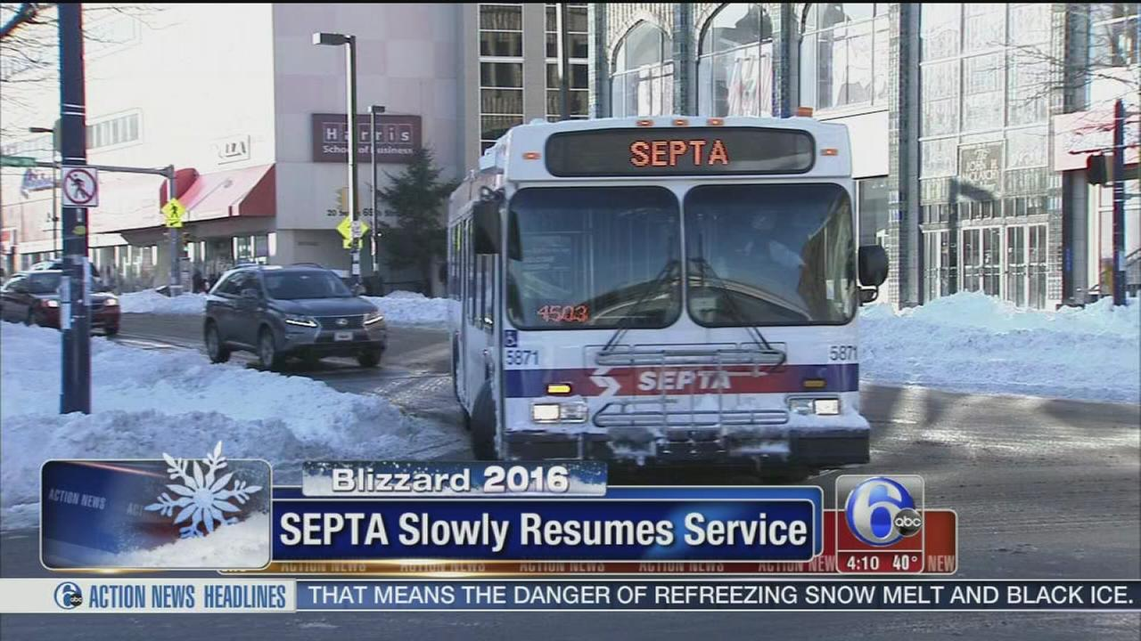 septa restores many services; riders urged to check status | 6abc