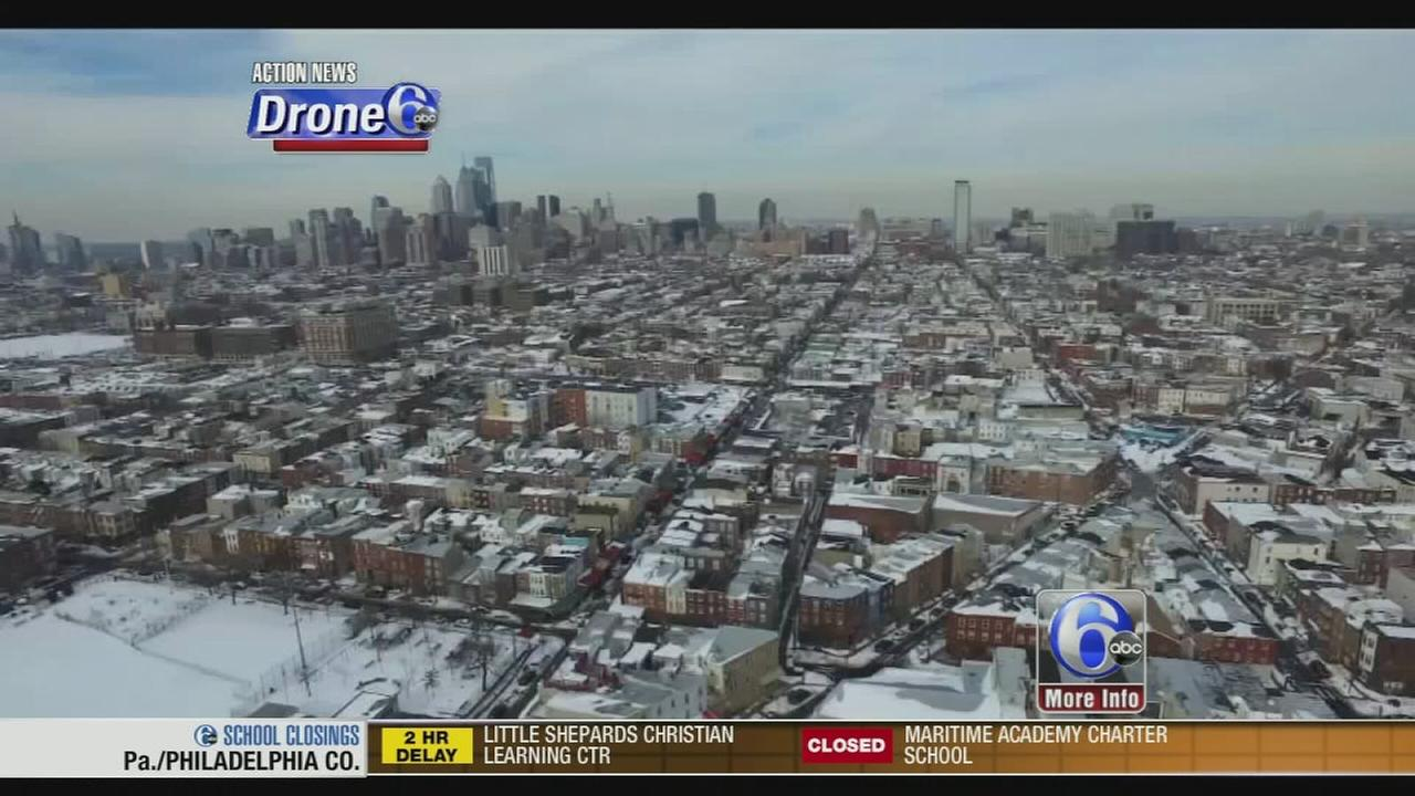 VIDEO: Drone 6 takes in the snowy scenery
