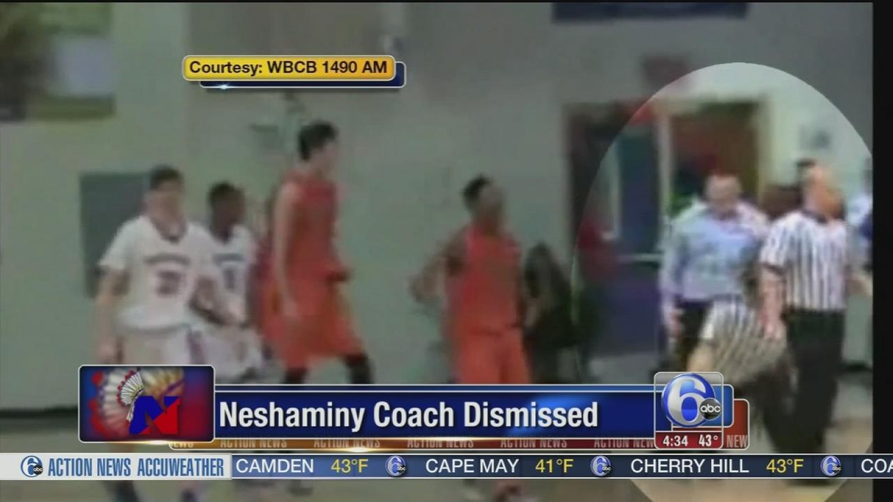 VIDEO: Neshaminy basketball coach dismissed