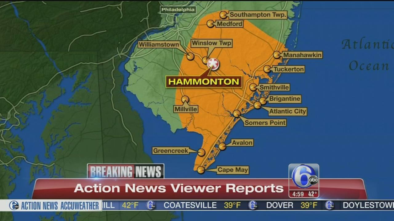 VIDEO: Jersey Shore rocked by sonic boom, agencies say