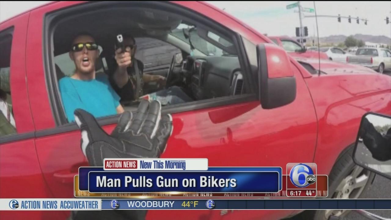 VIDEO: Man pulls gun on motorcyclist in road rage incident