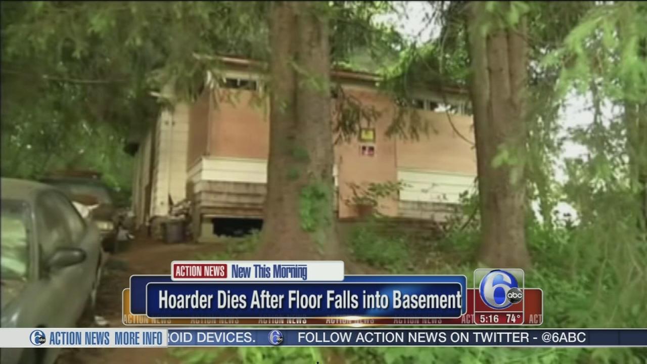 VIDEO: Hoarder dies after floor falls into basement