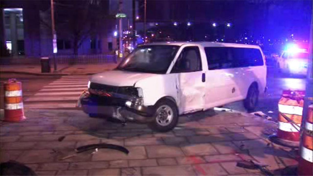 1 person hurt in truck crash in Old City