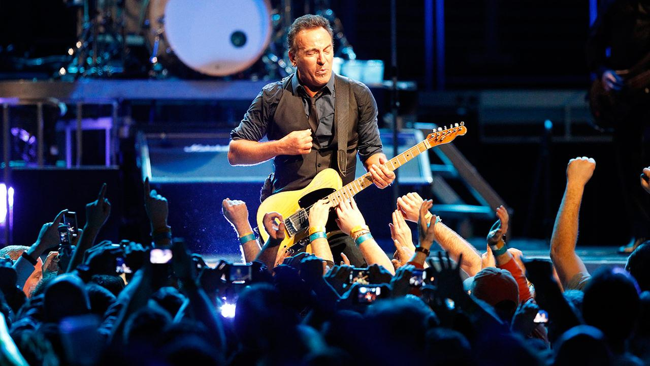 Bruce Springsteen and the E Street Band perform during the Wrecking Ball tour at the Wells Fargo Center Wednesday, March 28, 2012 in Philadelphia. (AP Photo/Alex Brandon)