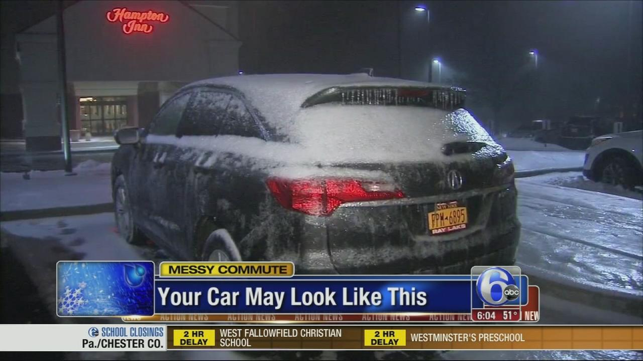 VIDEO: Prepare for a messy commute Tuesday
