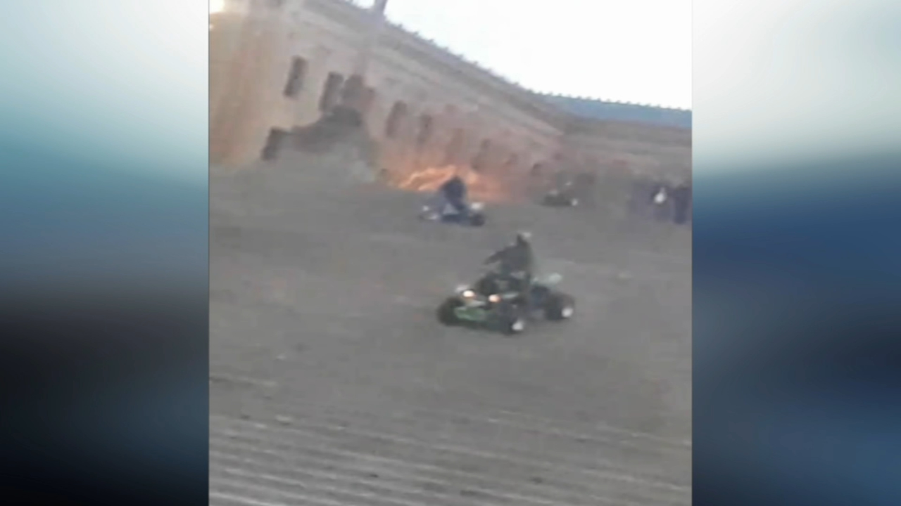 Video shows dirt bikes, ATVs on Art Museum steps. Watch this report from Action News at 4:30pm on December 4, 2018.