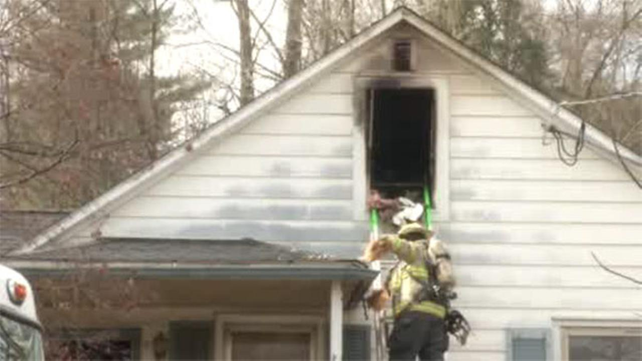 A fire broke out in the attic of a home in Yorklyn, Delaware.