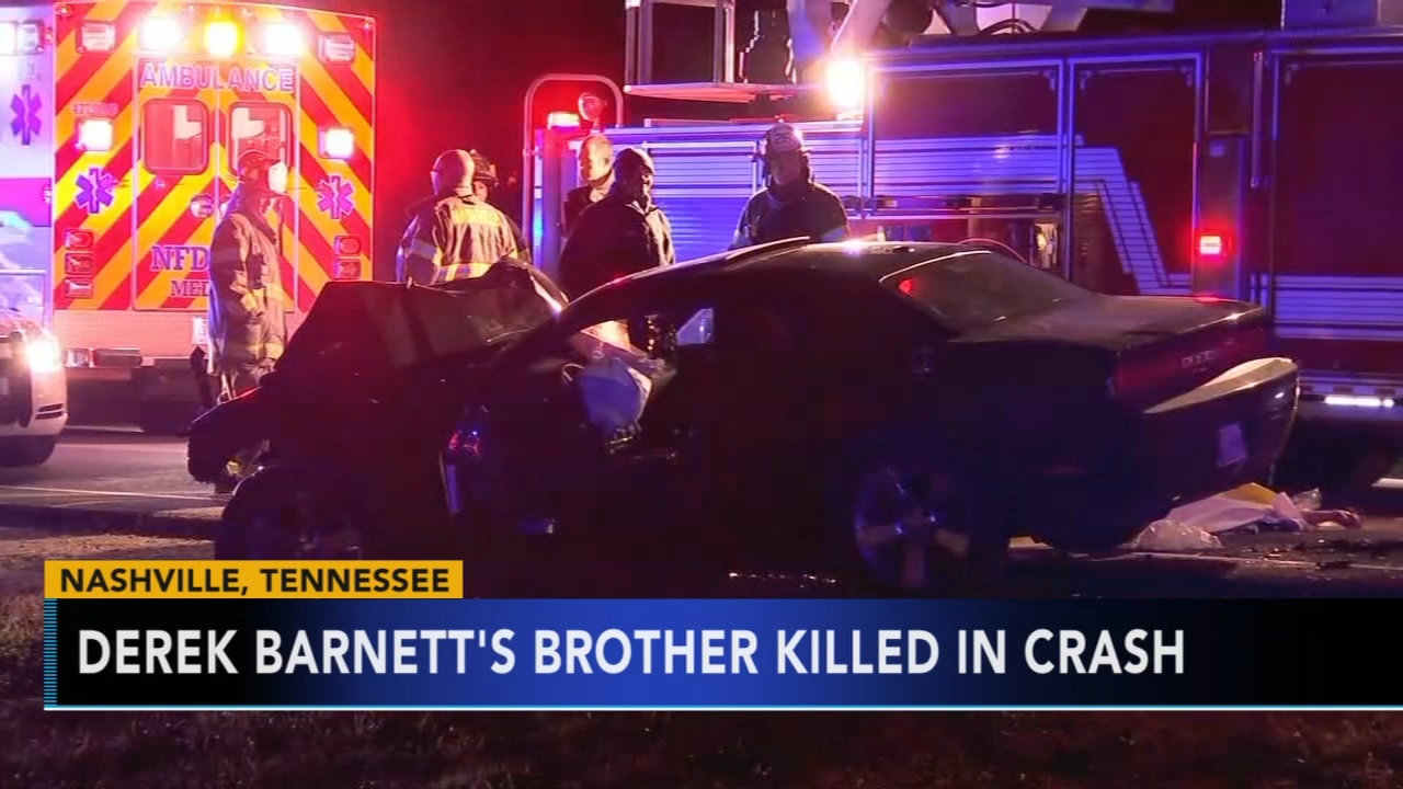 Derek Barnetts brother killed in crash. Tamala Edwards reports during Action News Mornings on December 5, 2018.