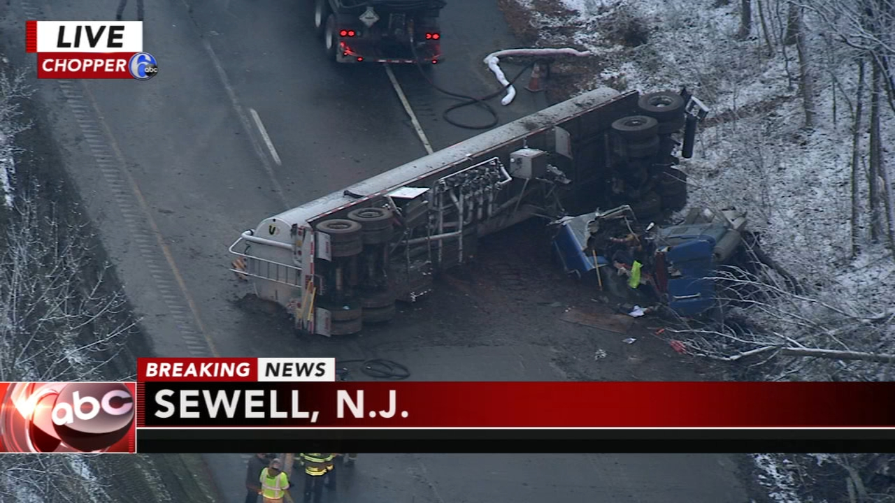Overturned tanker shuts down portion of Route 55: as seen on Action News at 4 p.m., December 5, 2018