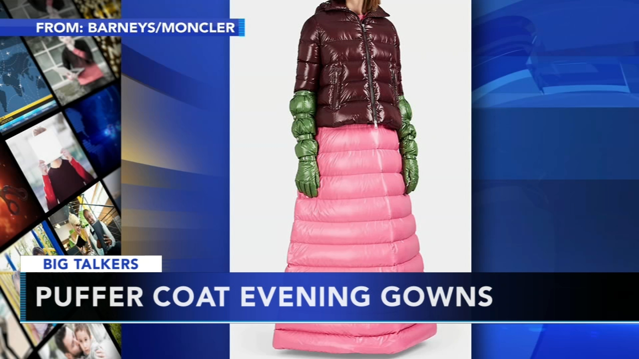 Italian fashion brand Moncler unveils puffer coat evening gowns. Sharrie Williams reports during Action News at 4 p.m. on December 6, 2018.