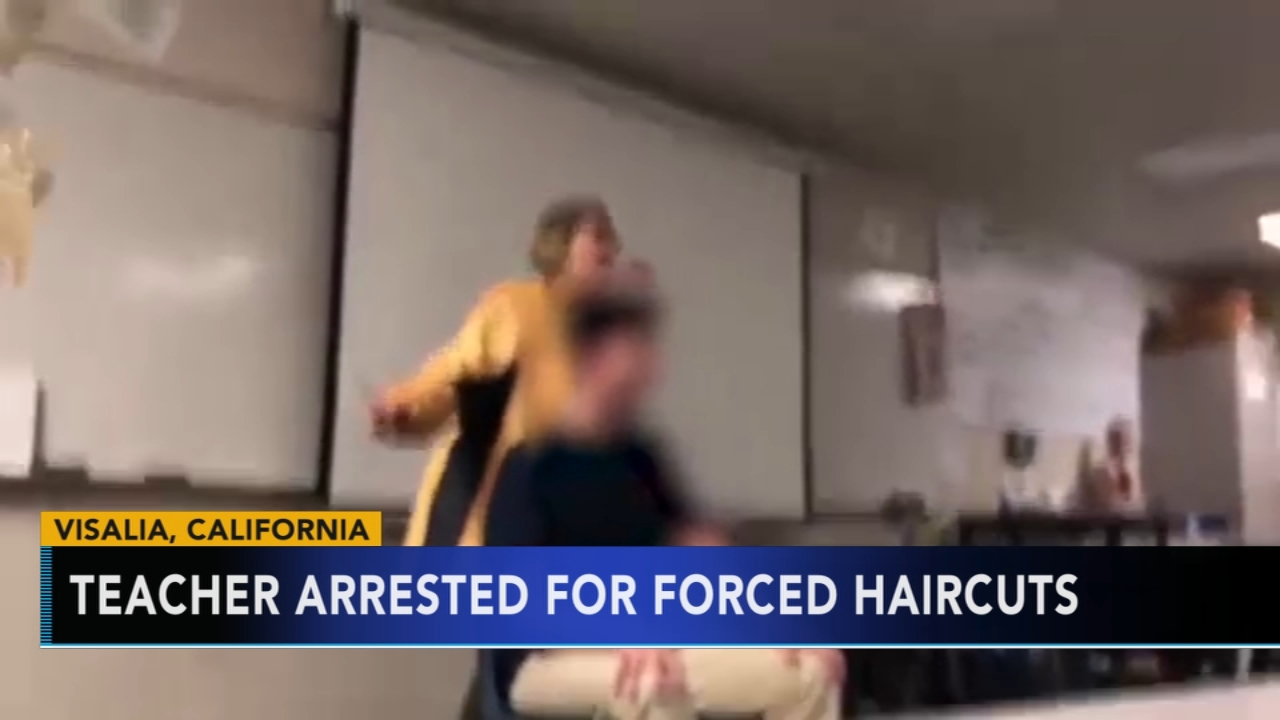 Teacher arrested after forcibly cutting a students hair in class. Sharrie Williams reports during Action News at 4 p.m. on December 6, 2018.