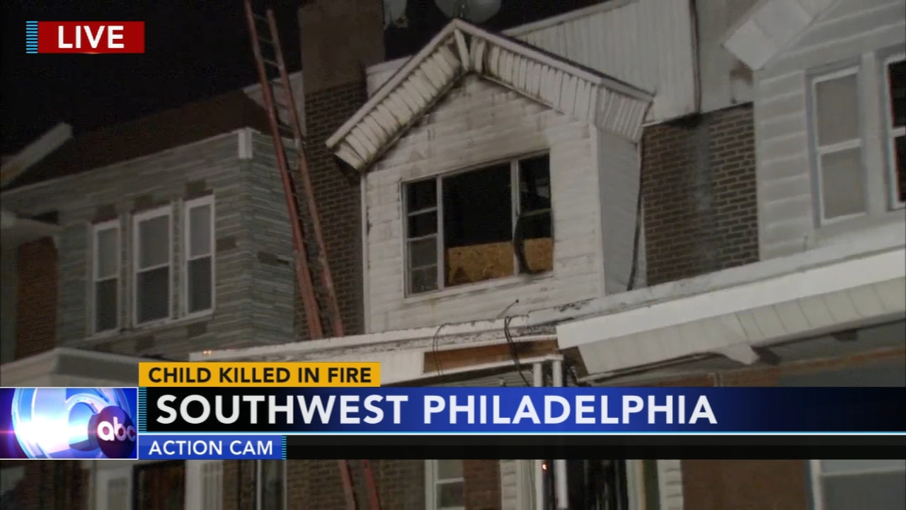 8-year-old dies in Southwest Philadelphia house fire: Bob Brooks reports on Action News at 6 p.m., December 6, 2018
