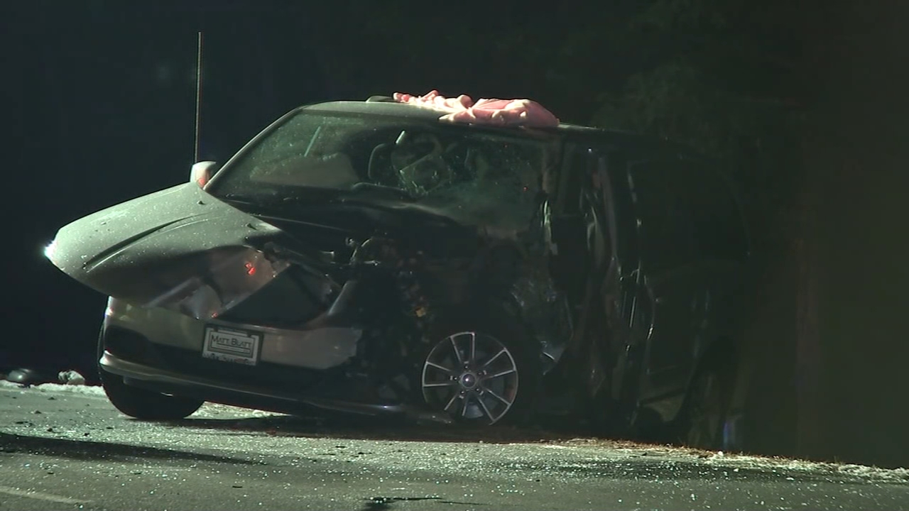 Ambulance and minivan collide in Galloway Township. Jeff Chirico reports during Action News at 11 p.m. on December 7, 2018.
