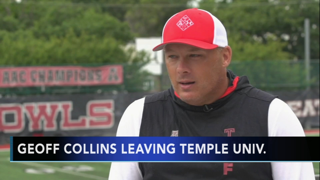Geoff Collins leaving Temple for Georgia Tech. Rick Williams reports during Action News at Noon on December 7, 2018.