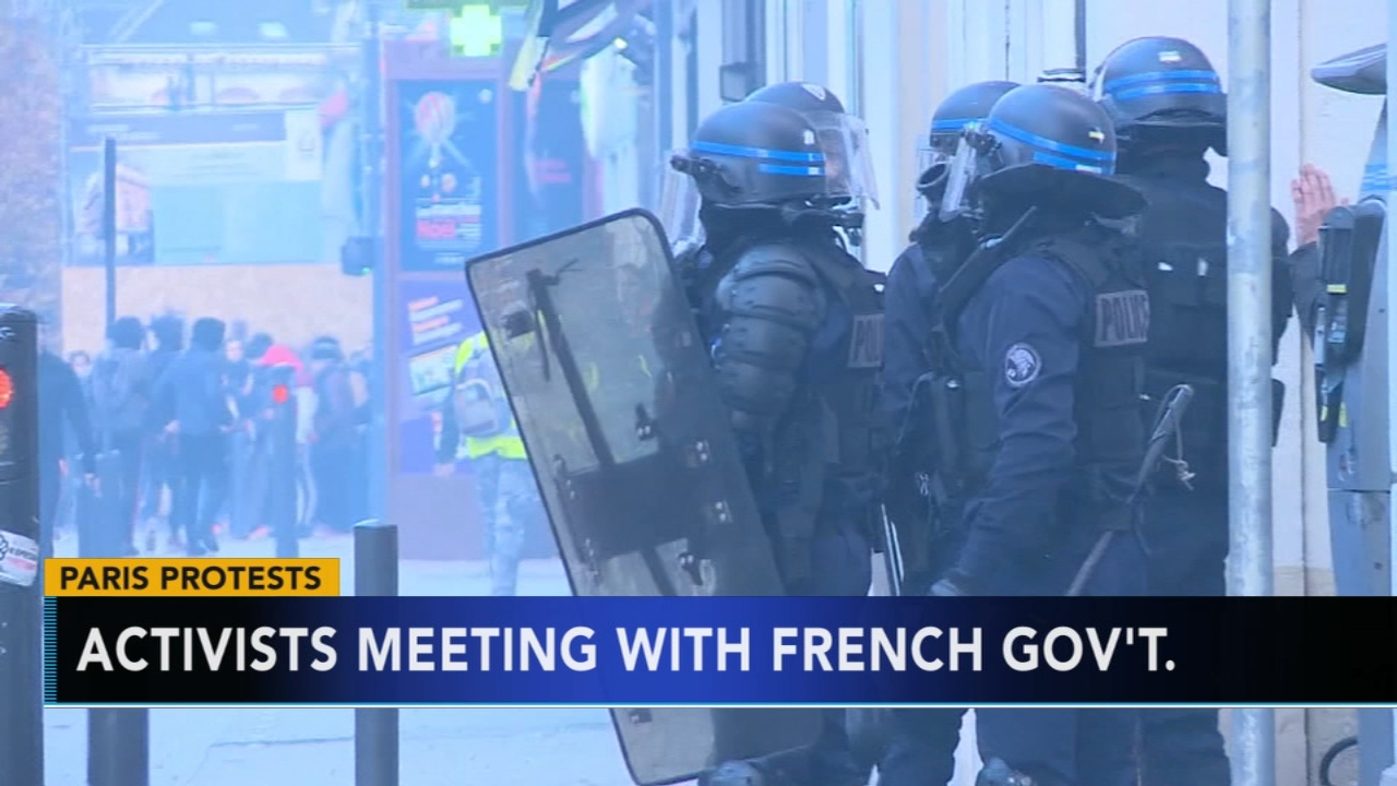 Protesters march through Paris amid fears of new violence. Christie Ileto reports during Action News at 6 a.m. on December 8, 2018.