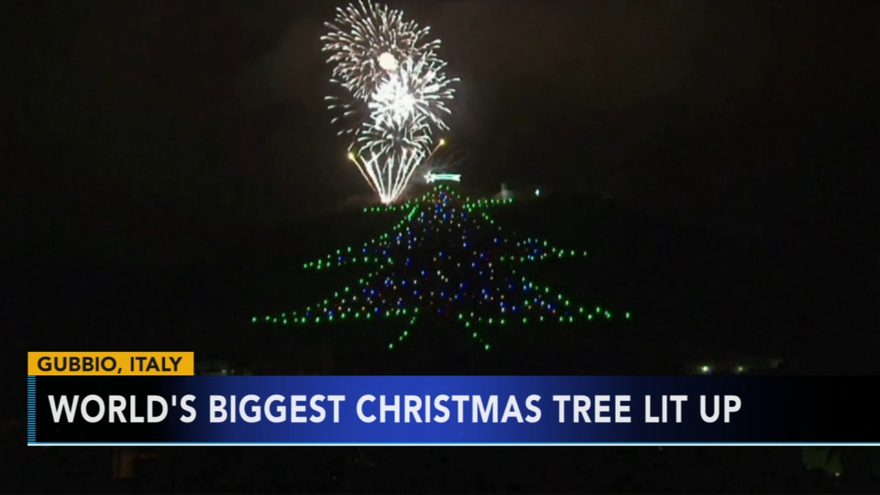 Worlds biggest Christmas tree unveiled in Italy. Gray Hall reports during Action News at 7 a.m. on December 8, 2018.