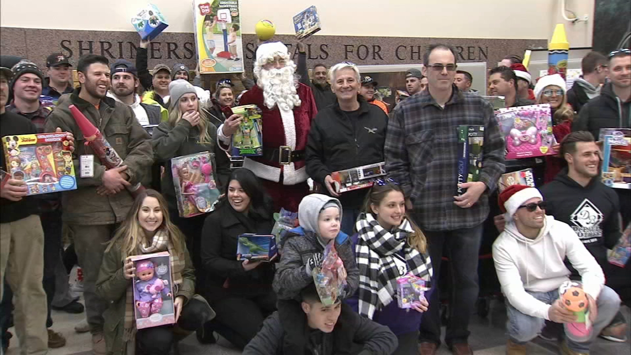 Toys delivered to children in hospitals in Philadelphia. Bob Brooks reports during Action News at 6 p.m. on December 8, 2018.
