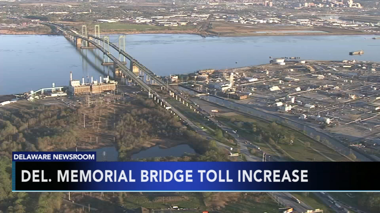 Delaware Memorial Bridge to see toll increase. Gray Hall reports during Action News at 9 a.m. on December 9, 2018.