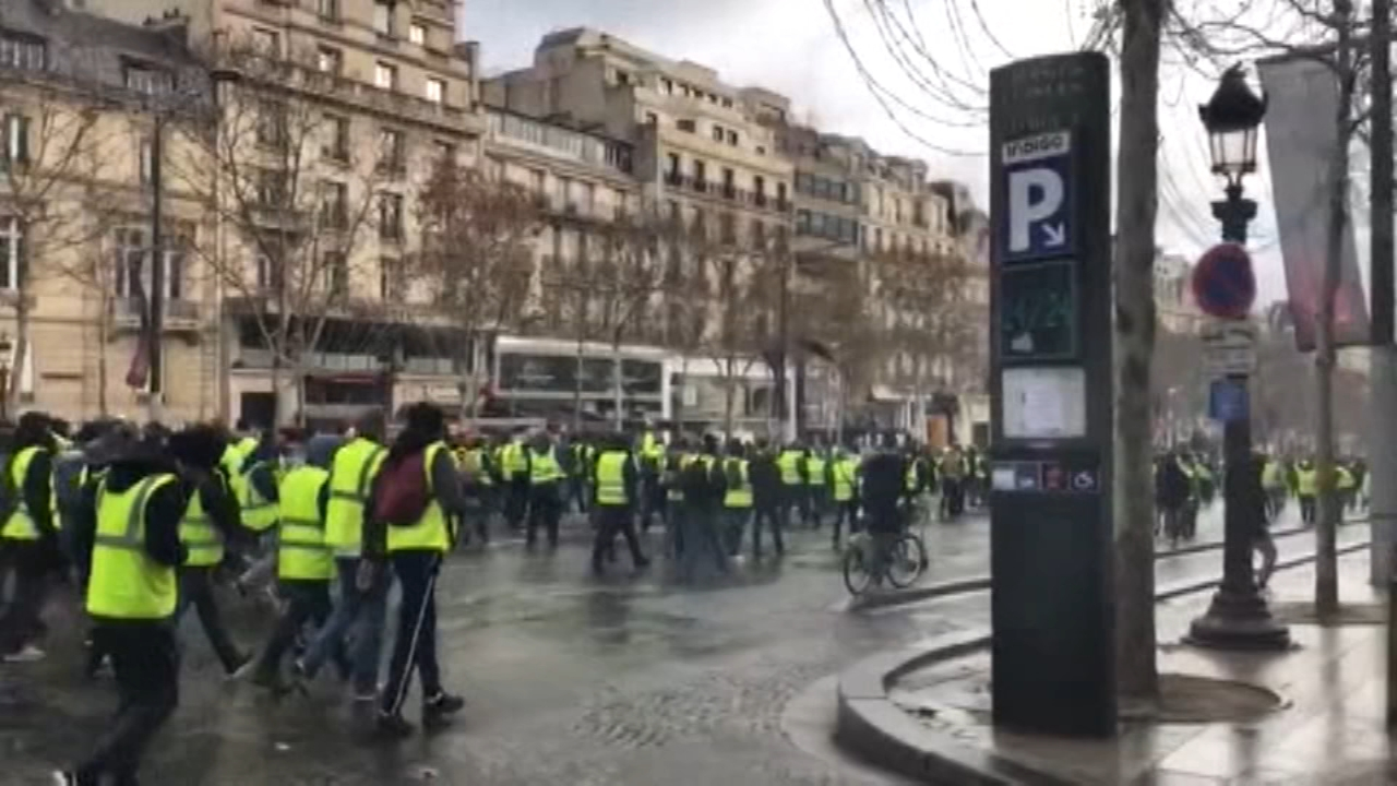 Paris cleans up after latest riot; pressure builds on Macron. Gray Hall reports during Action News at 9 a.m. on December 9, 2018.