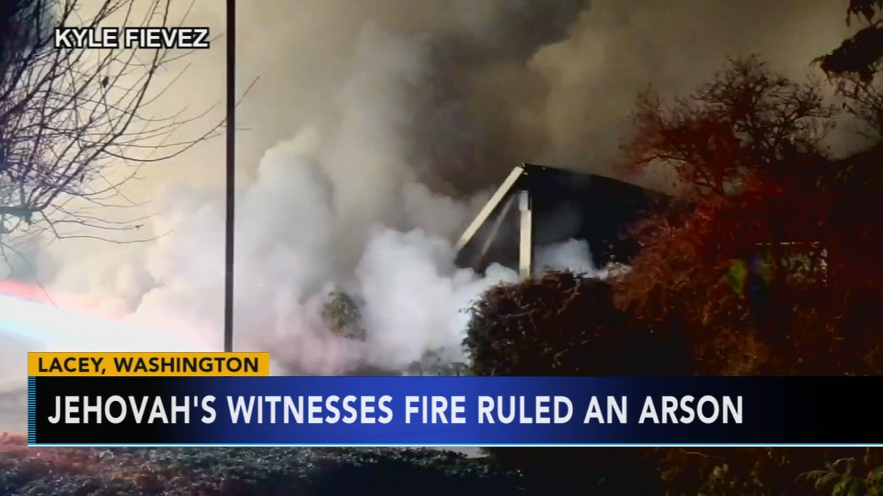 Fire that destroyed Jehovahs Witnesses church in Washington ruled an arson. Gray Hall reports during Action News at 9 a.m. on December 9, 2018.