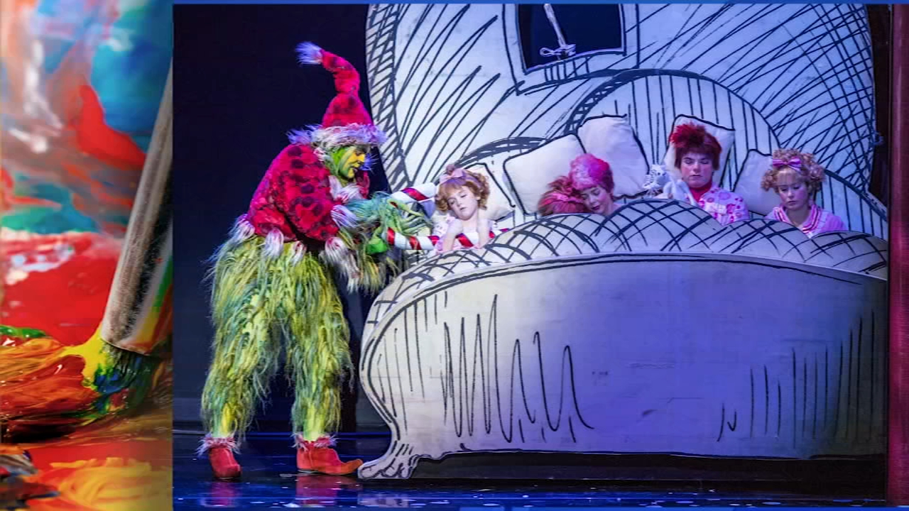 Dr. Seuss How the Grinch Stole Christmas! The Musical comes to the Merriam Theater. Karen Rogers reports during Action News at 7 a.m. on December 9, 2018.