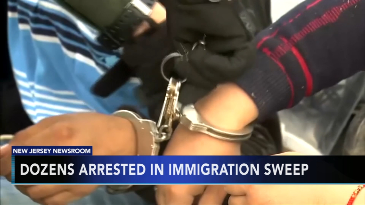 Immigration agents arrest 105 in massive New Jersey sweep. Nydia Han reports during Action News at 9 a.m. on December 9, 2018.