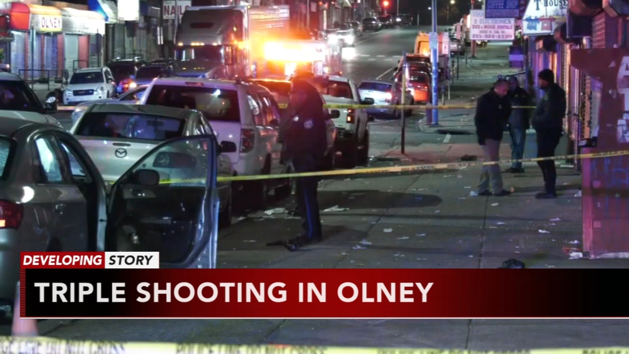 Triple shooting in Olney: as seen on Action News at 11 p.m., December 9, 2018