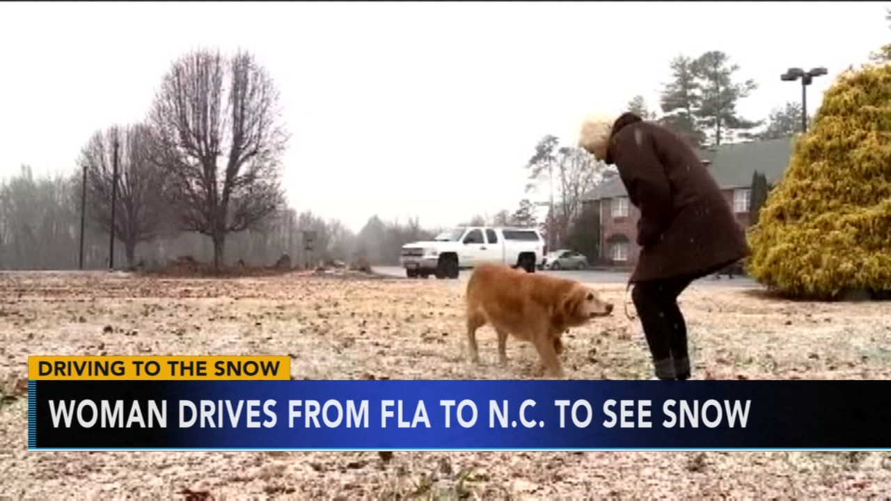 Florida woman travels to North Carolina just to see the snow. Nydia Han reports during Action News at 6 a.m. on December 9, 2018.