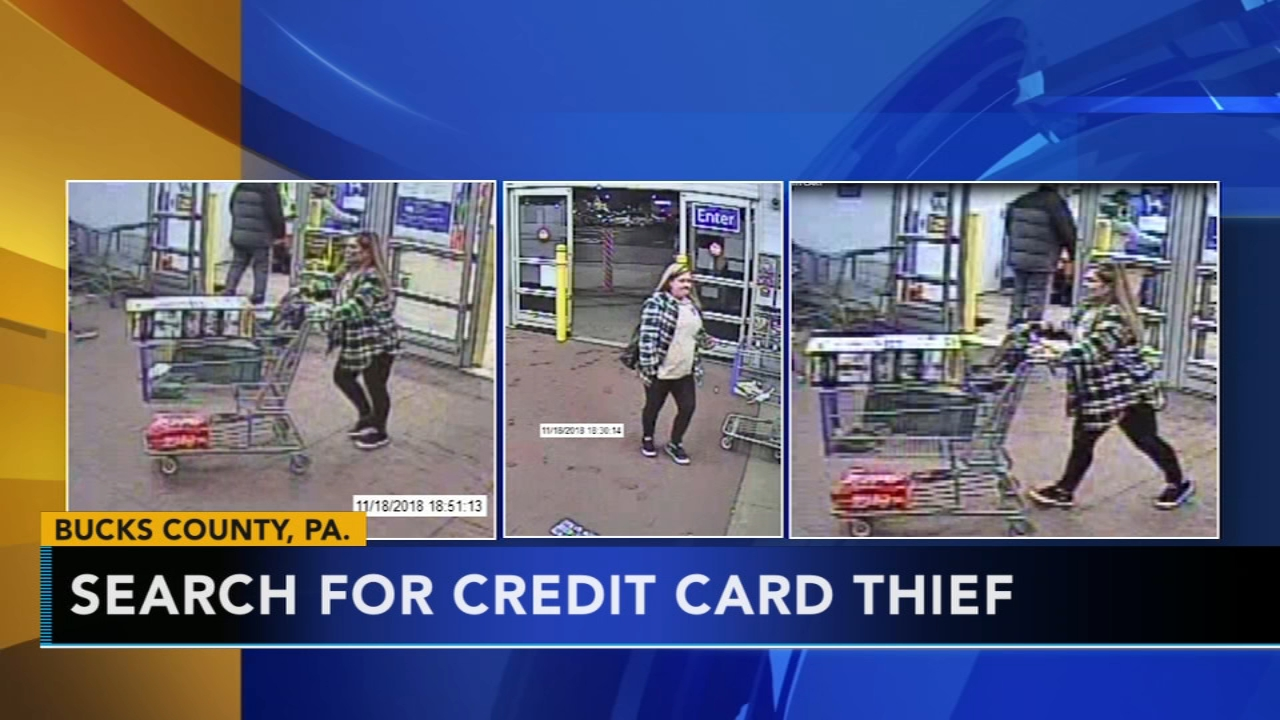 Police search for credit card thief in Bucks County: As seen on Action News at 4 p.m., December 10, 2018