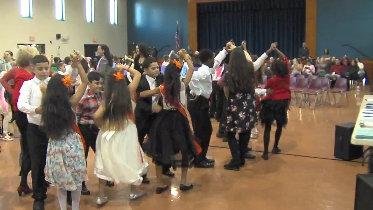 Students show off fancy footwork for Dancing Classrooms Philly: Rick Williams reports during Action News at 12:30pm on December 10, 2018.