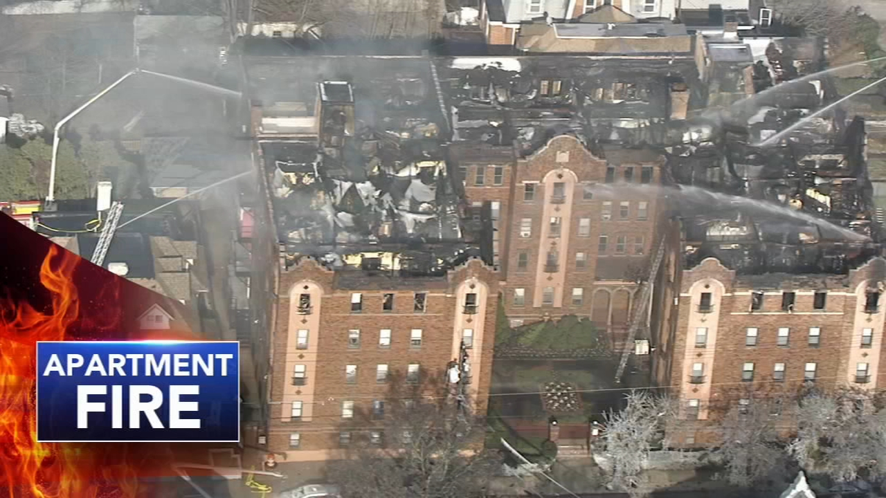 5-alarm Overbrook apartment fire leaves many homeless: Chad Pradelli reports on Action News at 4 p.m., December 10, 2018