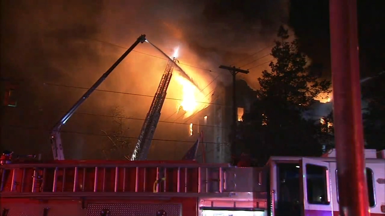 5-alarm Overbrook fire placed under control. Chad Pradelli reports during Action News at Noon on December 10, 2018.