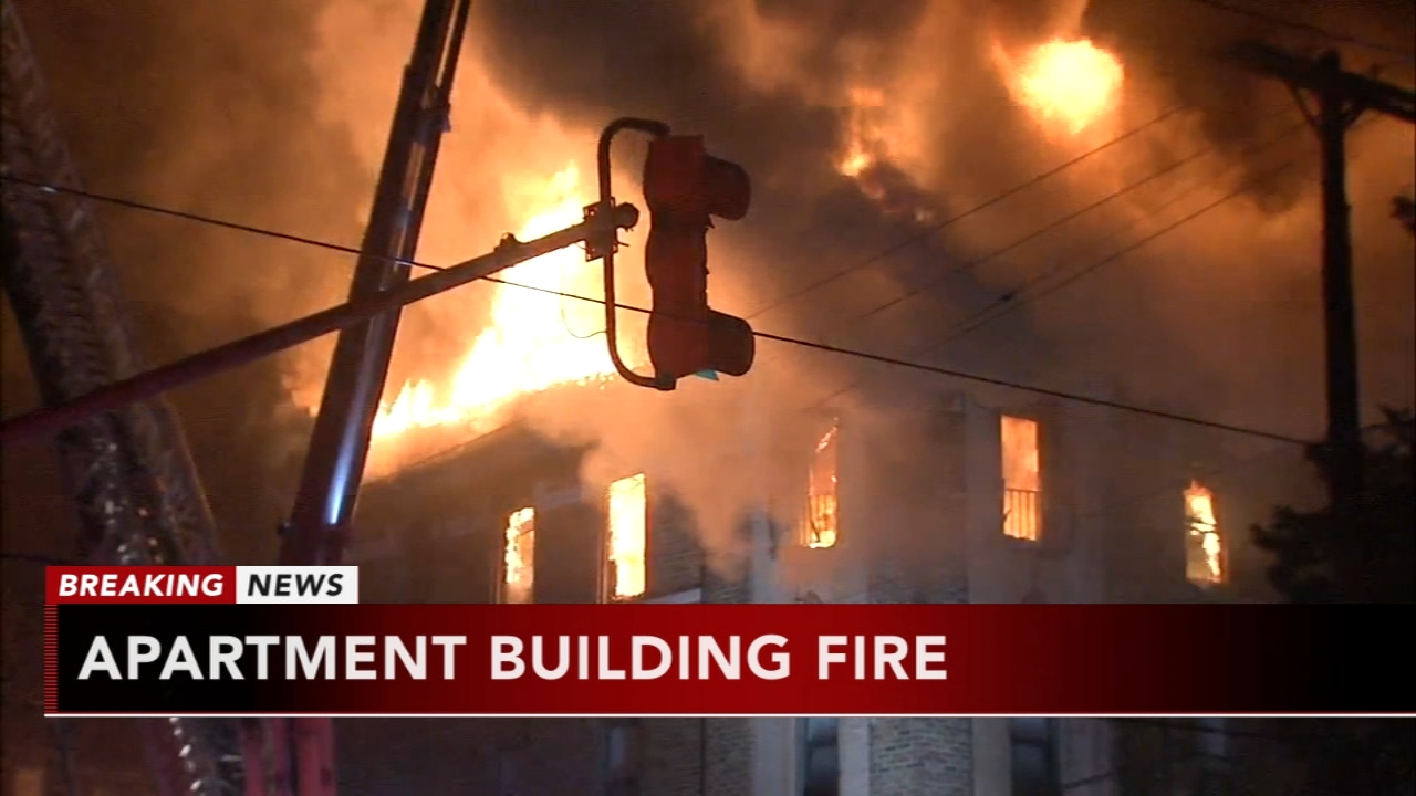 Firefighters battle 4-alarm fire in Overbrook. Jeannette Reyes reports during Action News Mornings on December 10, 2018.