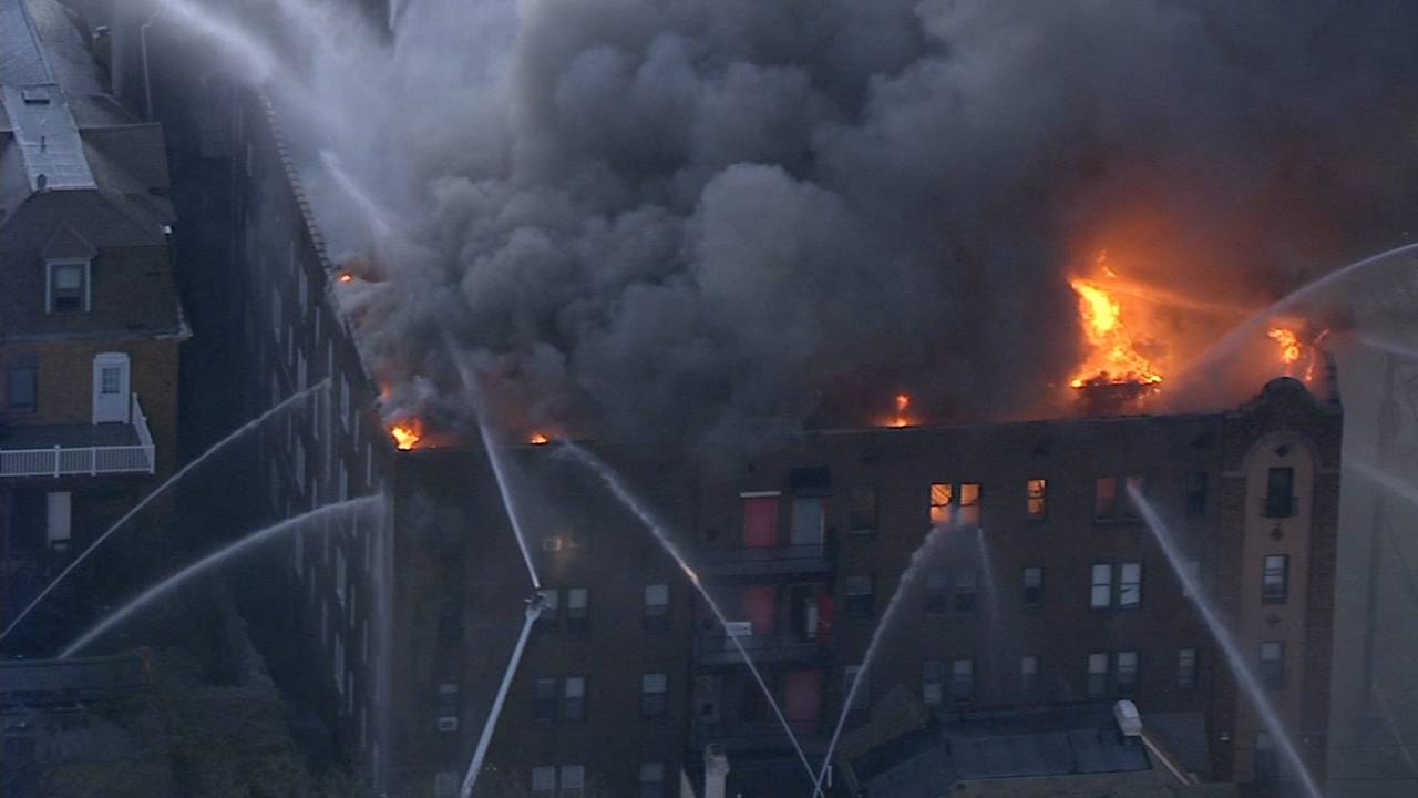 38 remain in Red Cross shelter following 5-alarm Overbrook apartment fire: Dann Cuellar reports on Action News at 11 p.m., December 10, 2018