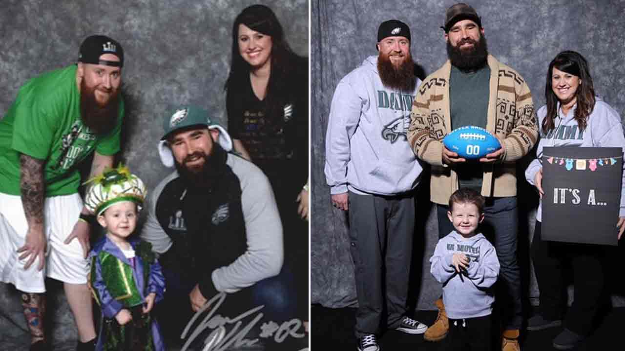 Jason Kelce helps Philadelphia Eagles fans, Mini Mummers family, with baby announcement
