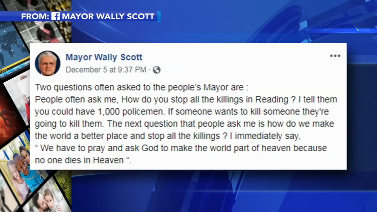 The Mayor of Reading is weighing in on violence in the city of Reading, saying part of the solution to making the city safer is to turn to faith.